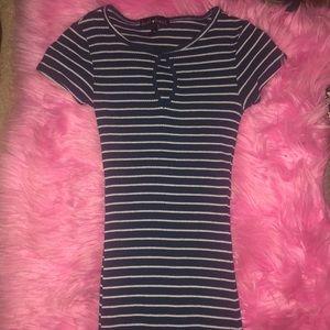 very long striped dress